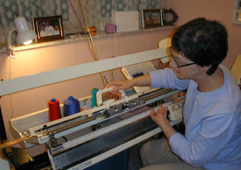 Have you ever used a knitting machine?