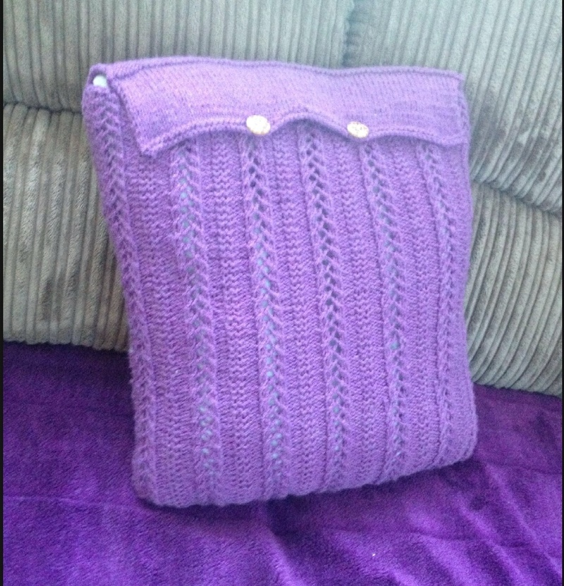 Perfectly purple cushion