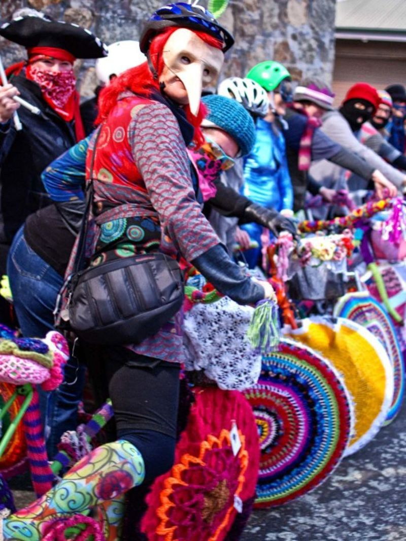 Yarn Bombing - Albany and Dublin